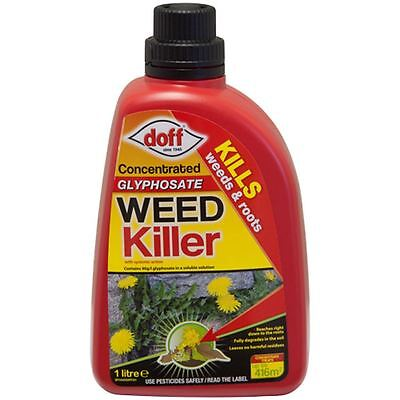 Doff Garden Glyphosate Weed Root Control Killer Concentrate 1 Litre