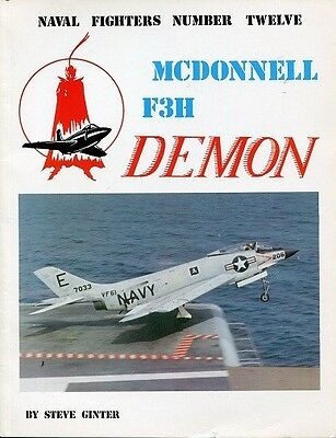 MCDONNELL F3H DEMON NAVY FIGHTER SQUADRON AVIATION HISTORY PHOTO GINTER BOOK