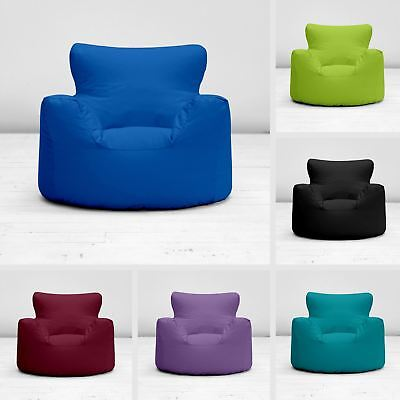 Childrens Kids Boys Girls 100% Cotton Chair Seat Beanbag Bean Bag with Filling