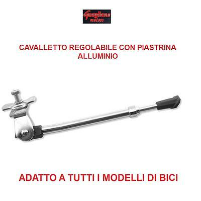 Cavalletto Regolabile In Alluminio Con Piastra Per Bici 24/26/28 Single Speed