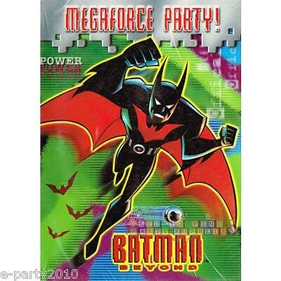 BATMAN BEYOND INVITATIONS (8) ~ Birthday Party Supplies Invites Stationery Cards