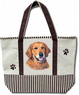 Golden Retriever Large Canvas Tote Bag  BRAND NEW