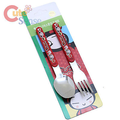 Pucca and Garu Stainless Spoon Fork 2pc Set Pucca Silverware