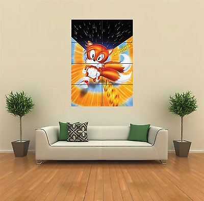 Tails Sonic The Hedgehog New Giant Large Art Print Poster Picture Wall G398