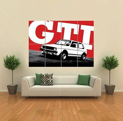 Vw Mk Golf Volkswagen Gti Car New Giant Art Print Poster Picture Wall G1215