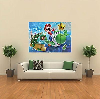 Super Mario Galaxy 2 New Giant Large Art Print Poster Picture Wall G574