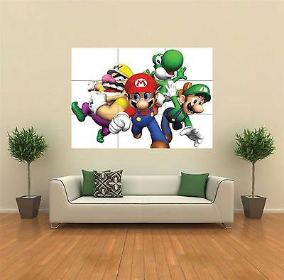 Super Mario Nintendo Xbox New Giant Art Print Poster Picture Wall X1411