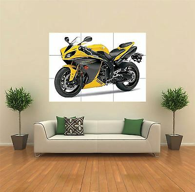 Yamaha Yzf-R1 Superbike Yellow New Giant Art Print Poster Picture Wall X1441