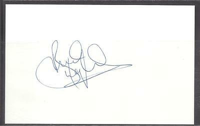 A 14cm x 9cm Plain White Card Signed by Brian McLaughlin of Celtic, Ayr United.