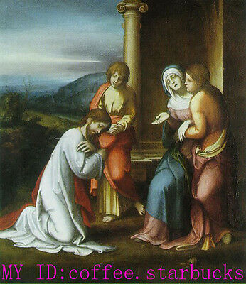 "Handicrafts Art Repro oil painting:""Christ taking Leave of His Mother"" 36x48"