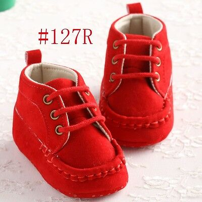 Hot sell Newborn Red Baby boy girls shoes warm soft sole toddler 12-18 months