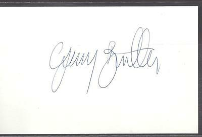 A 14cm x 9cm Plain White Card Signed by Gerry Britton of Celtic, Reading, Raith.