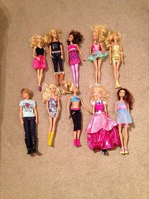 Barbie Doll Bundle X 10 All Clothed With Shoes Immaculate