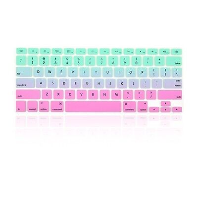 """Faded Ombre Hot Blue&Purple Keyboard Cover Skin for Macbook /Pro13""""15""""17"""" Retina"""