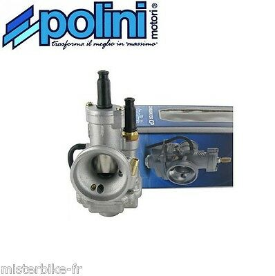 Carburateur 15 carbu POLINI type CP Ø15  Starter à câble Moto Scoot Ref 201.1501