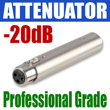XLR BALANCED ATTENUATOR IN LINE VOLUME | - 20dB