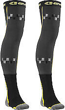 Evs Fusion Adult Mx Knee Brace Pads Liner & Sock Combo  Socks Black / Hi-Viz