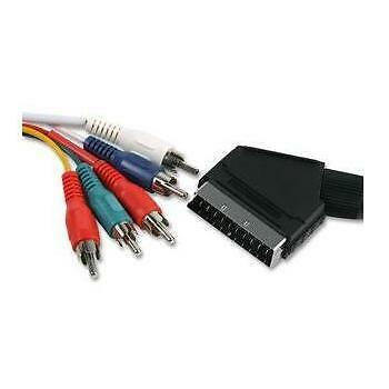 1.5M - 5 RCA to SCART | YPbPr Component Cable Lead 450