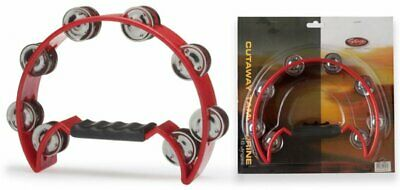 Stagg TAB-2 RD Half Moon Percussion Tambourine Red