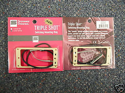 Seymour Duncan TRIPLE SHOT MOUNTING RING SET ARCHED CREME FOR ARCHED TOP GUITARS