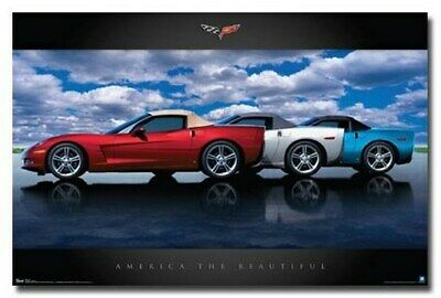 CHEVY CORVETTE POSTER America the Beautiful NEW 24X36