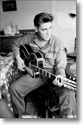 ELVIS PRESLEY POSTER US Army Pose RARE NEW HOT 24X36