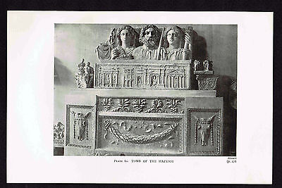 Tomb of the Haterii, Busts, 2nd Century CE, Rome - 1912 Historical Art Print