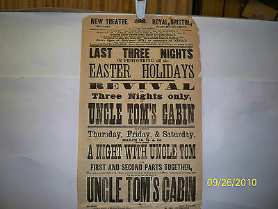 Playbill - Uncle Tom's Cabin   1869