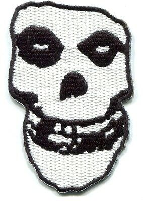 THE MISFITS crimson ghost EMBROIDERED IRON-ON PATCH *Free Shipping* white skull