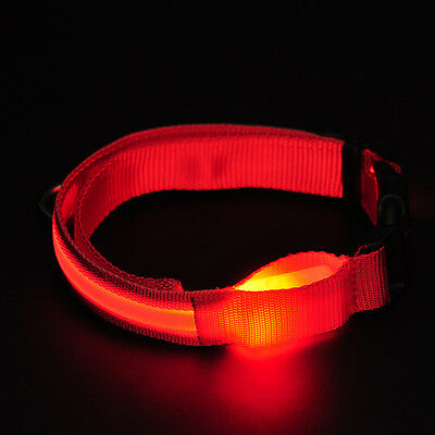 L Size Pets Dog Night Safety Red Showy LED Lights Flash Adjustable Useful Collar