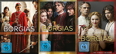 11 DVDs * DIE BORGIAS - STAFFEL / SEASON 1 2 3 IM SET - KOMPL. SERIE # NEU OVP +