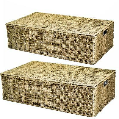 e2e Seagrass Underbed Under Bed Wicker Storage Basket in Choice of Sizes & Deals