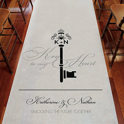 Key Monogram PERSONALIZED Aisle Runner Wedding Ceremony Decoration