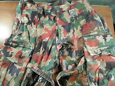 2 pair SWISS ALPENFLAGE CAMO FIELD PANTS    size 36 X 31-30 - good condition...