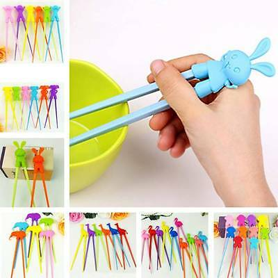 Colorful Child Cartoon Beginner Easy Use Fun Learning Training Helper Chopsticks