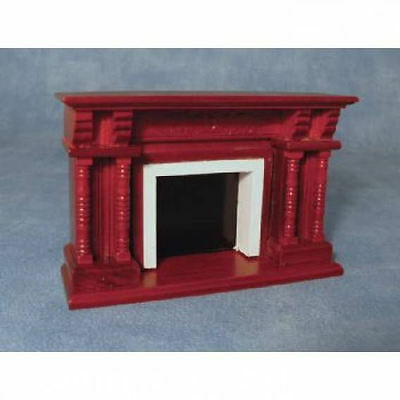 1/12th Scale Dolls House Mahogany Fireplace DF248