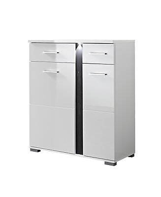schuhschrank garderobe hochglanz glanz lack creme wei eiche 25749 eur 449 00 picclick de. Black Bedroom Furniture Sets. Home Design Ideas