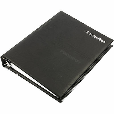 Collins PVC A5 Ring Bound Binder Indexed A-Z Address Book Business Card Holder