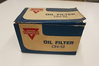 Vintage CONOCO CN-13 Oil Filter w/ Gasket NOS Continental Oil Houston Old Logo