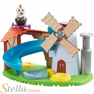 Weebledown Farm Weebles Wobbily Farm Mill & Barn Toy Playset + Rusty Rooster