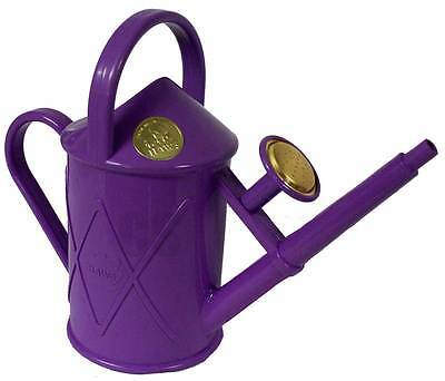 Haws Heritage Indoor 1 Litre Watering Can Brass Rose Lilac - Outdoor