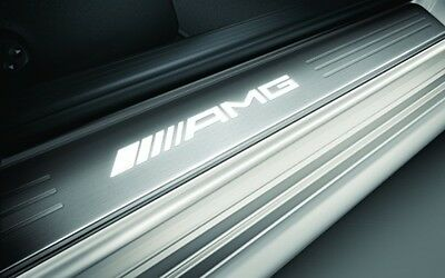 Mercedes AMG W204 C204 C Class Coupe Illuminated door sills Set OEM AMG