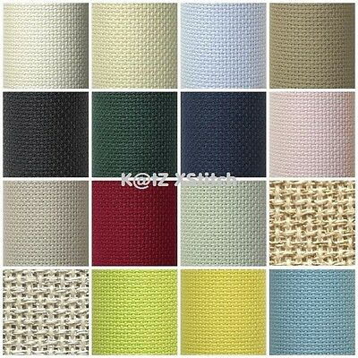 DMC / CHARLES CRAFT AIDA 14 COUNT 15 x 18in GOLD STANDARD (22 Colours)