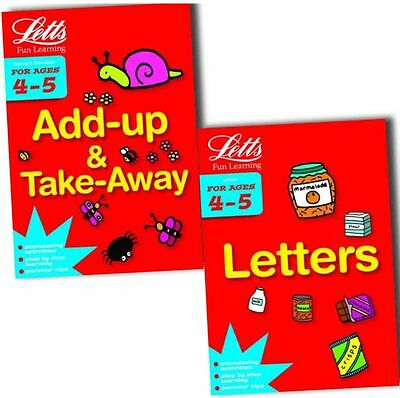Letts Fun Learning (4-5 Years) 2 Books Collection Pack Set- Letters, Add -Up and
