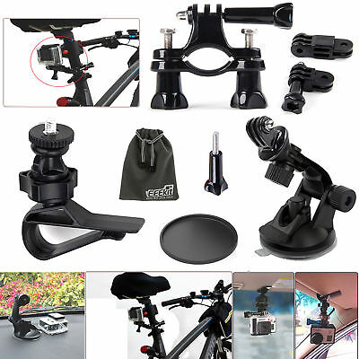 EEEKit Car Auto Bike Mount Accessories for GoPro Hero 5 4 Black Session 3+ 3 2