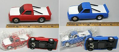 2pc Artin 1/43 CHEVY SILVERADO PICK UP TRUCK Slot Race Car Fast LIGHTED Lit Pr!