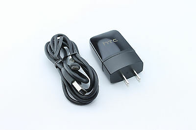 OEM HTC 1.5 AMP 7.5W Home Wall Travel AC DC Charger + Micro USB Data Sync Cable