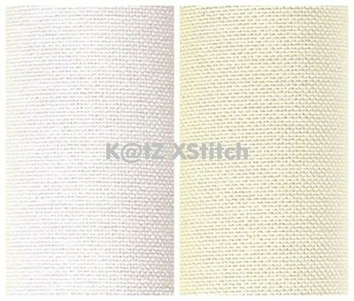 "CHARLES CRAFT 'MONACO' EVENWEAVE 28 COUNT 15"" x 18"" (White / Cream)"