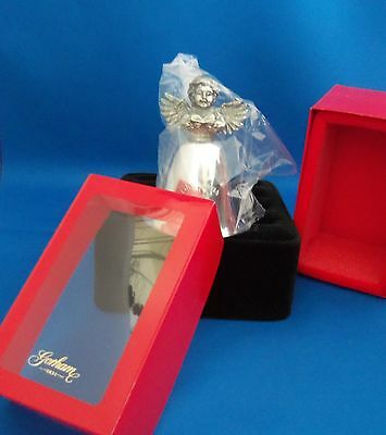 1998 Angel Top Collecible Silverplated Christmas Bell Gorham Silversmith's NIB