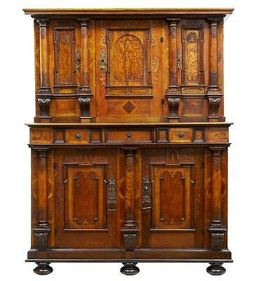 EARLY 19TH CENTURY CONTINENTAL CARVED BAROQUE CUPBOARD